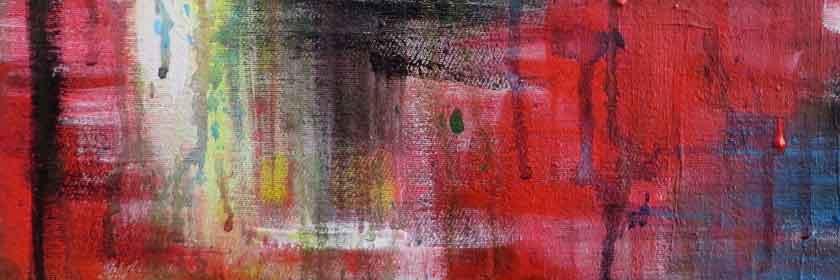 abstrakte Malerei in rottönen