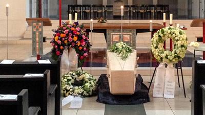 Trauerfeier in der Kirche